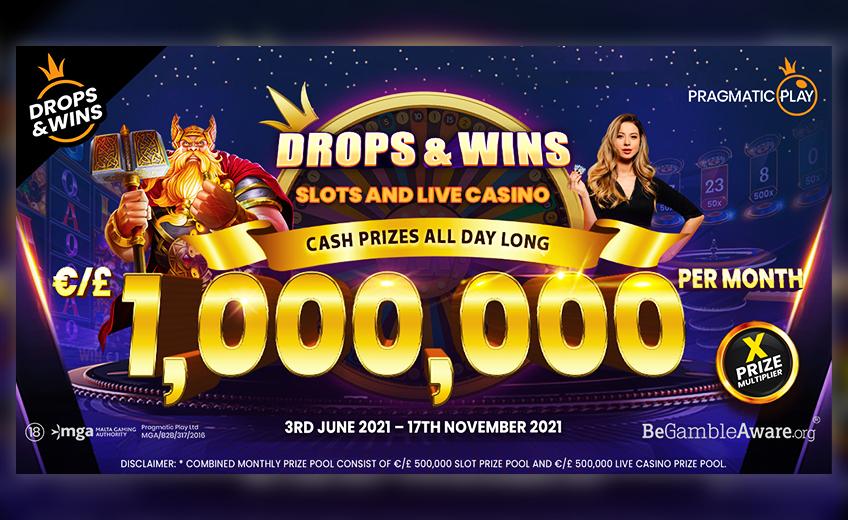 1 000 000 евро в подарок игрокам ежемесячно: Pragmatic Play расширяет призовой фонд турнира Drops and Wins и добавляет live-игры